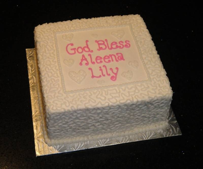 Baptism Cake for Lily