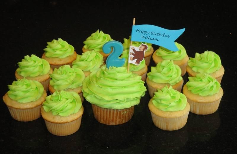 Curious George 2nd Birthday Cupcakes
