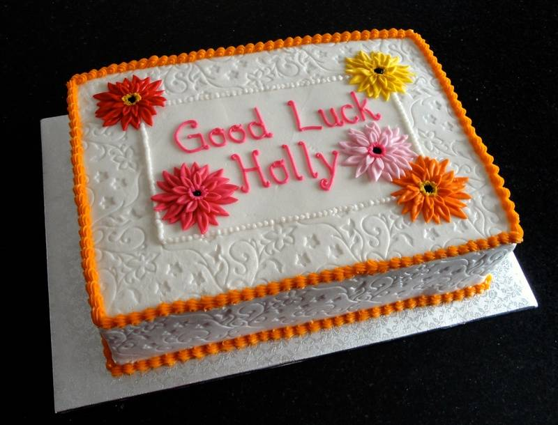Good Luck Corporate Cake