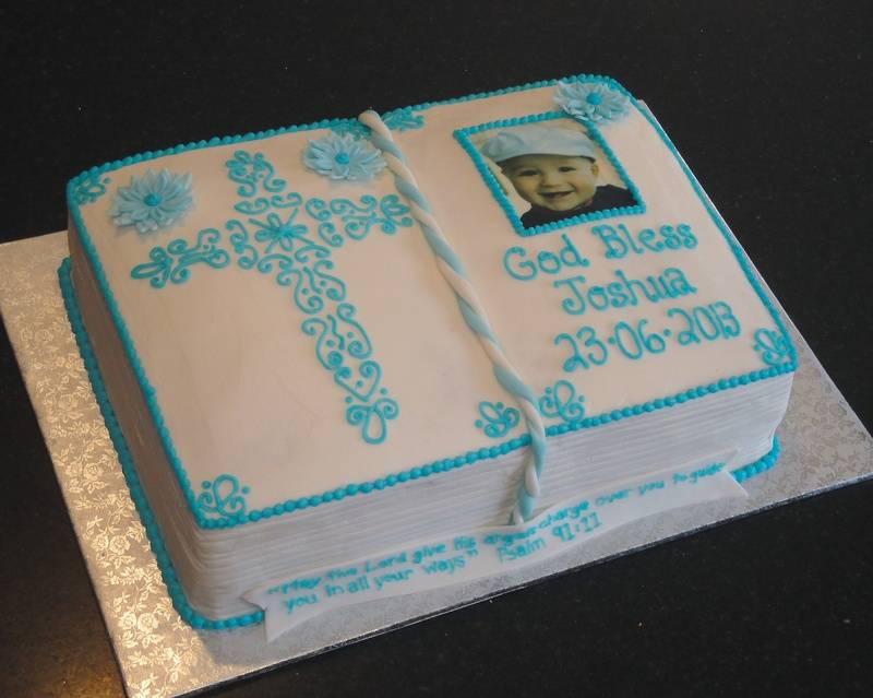 Baby Baptism 3D Bible Cake