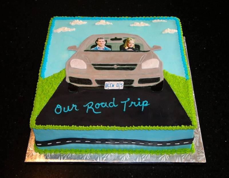 Wedding Shower Road Trip Theme Cake