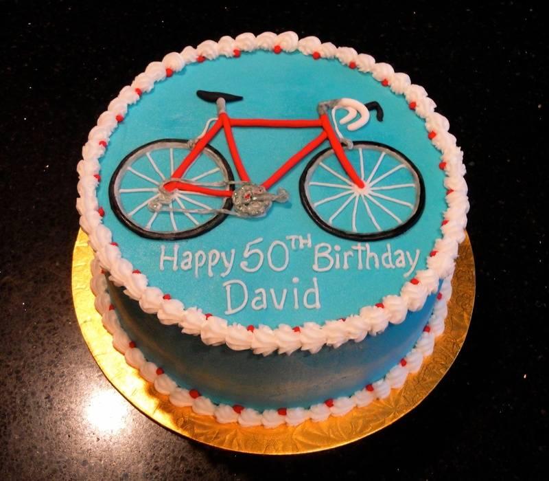50th Birthday Bicycle Theme Cake