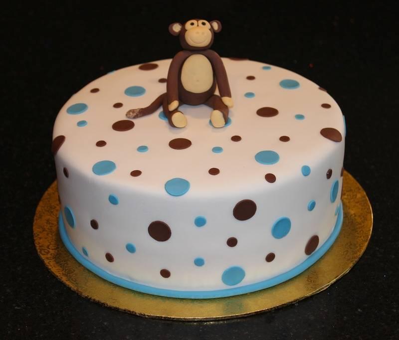 Baby Shower Monkey Theme cake