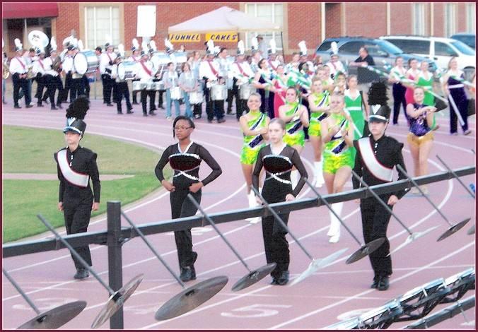 Drum Majors at 8th Grade Night