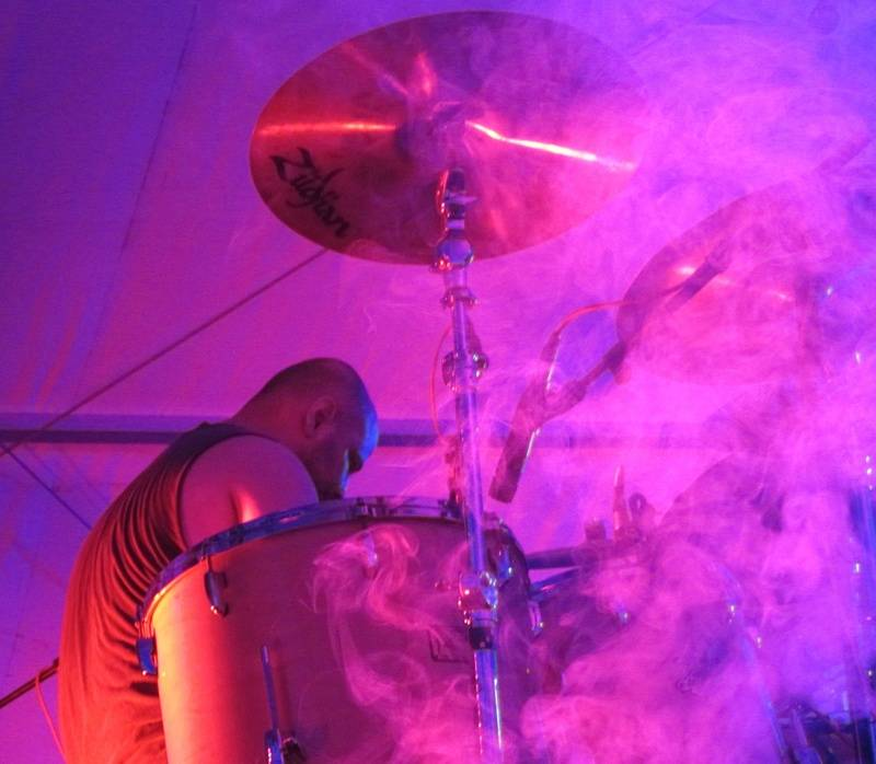 Jaime on drums