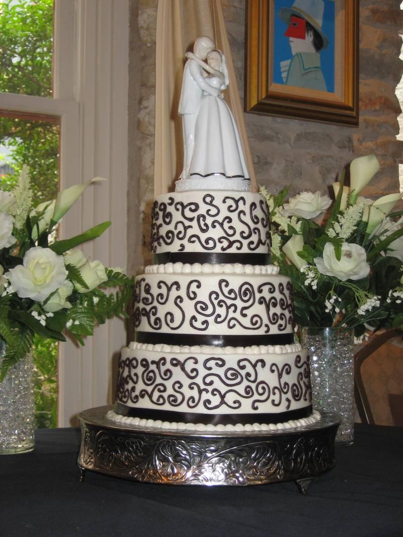 Scroll Wedding Cake