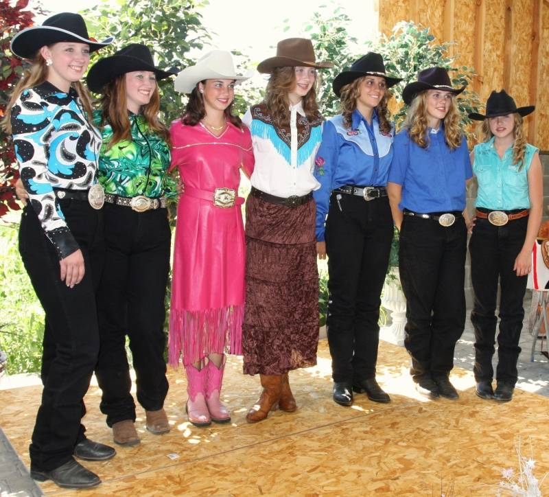 Lake Co. Rodeo Queen court
