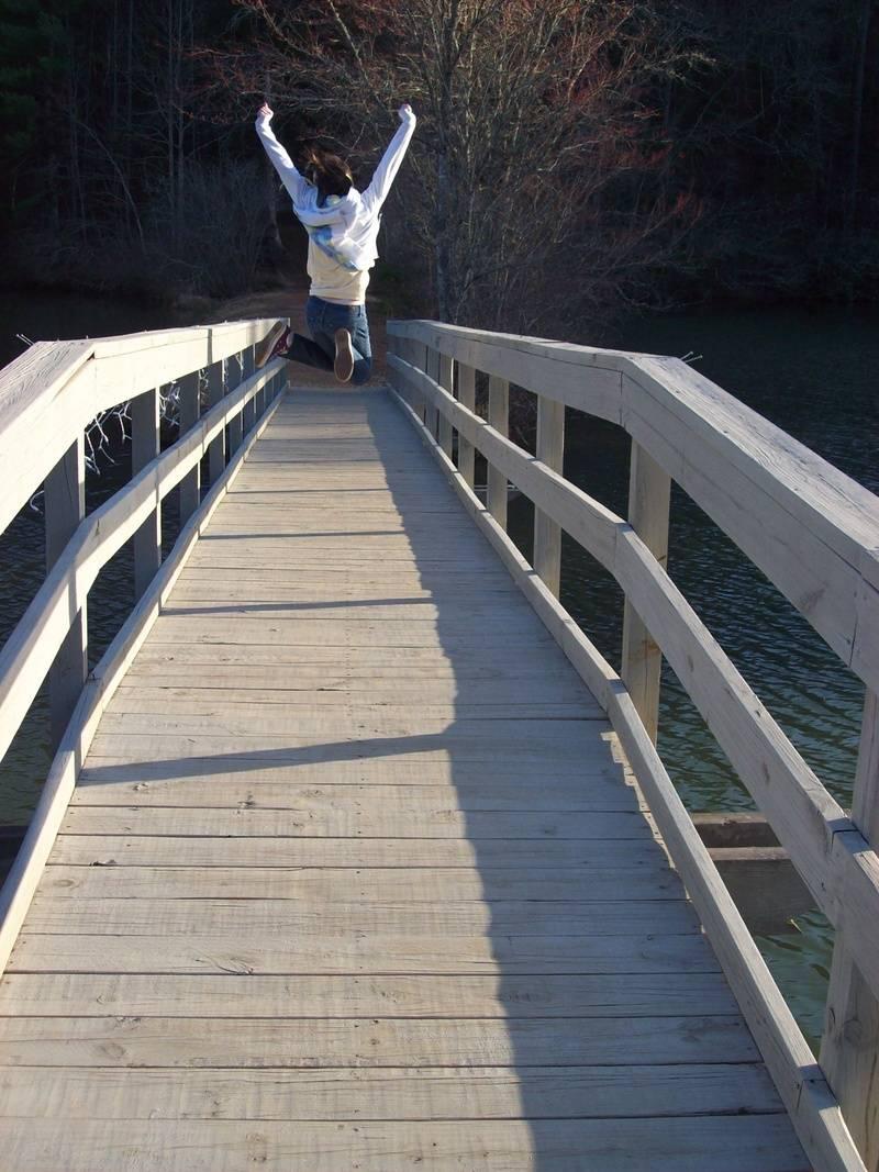 Footbridge Across Sky Lake