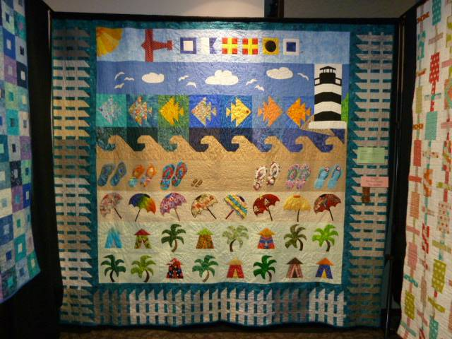 President's Quilt 2012-2013 quilted by Ginger Cook.  Pieced by SPQG members. Entered by Trish Parris.
