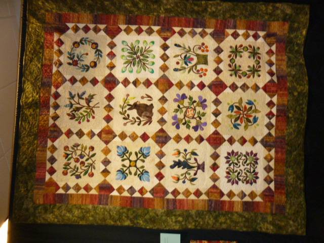 From My Garden Album Quilt by Linda Thompson.  Quilted by Pat Fitzpatrick.