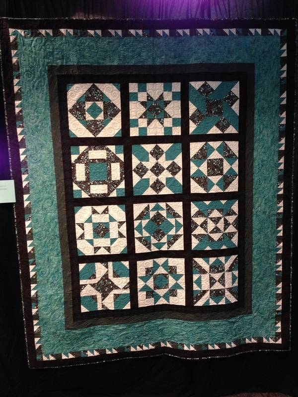 """Michele Smith """"Teal Magic Sampler"""" (Quilted by Mo Starkey)"""