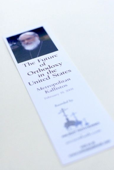 Souveneir bookmarks which were distributed