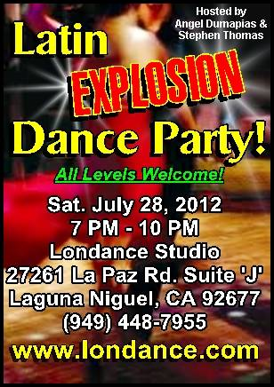 Salsa & Latin Dance Party - Sat. July 28, 2012