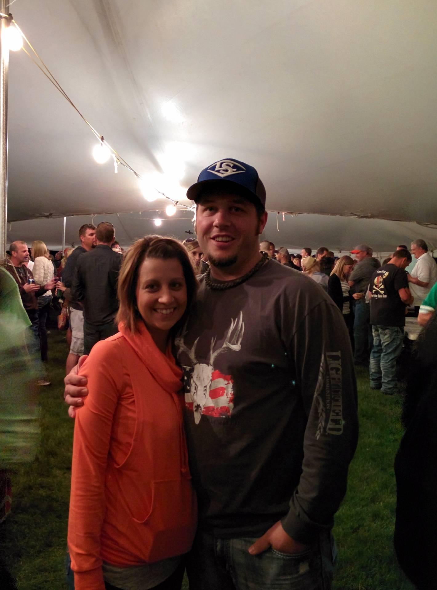 Date night---Summerfest tent!
