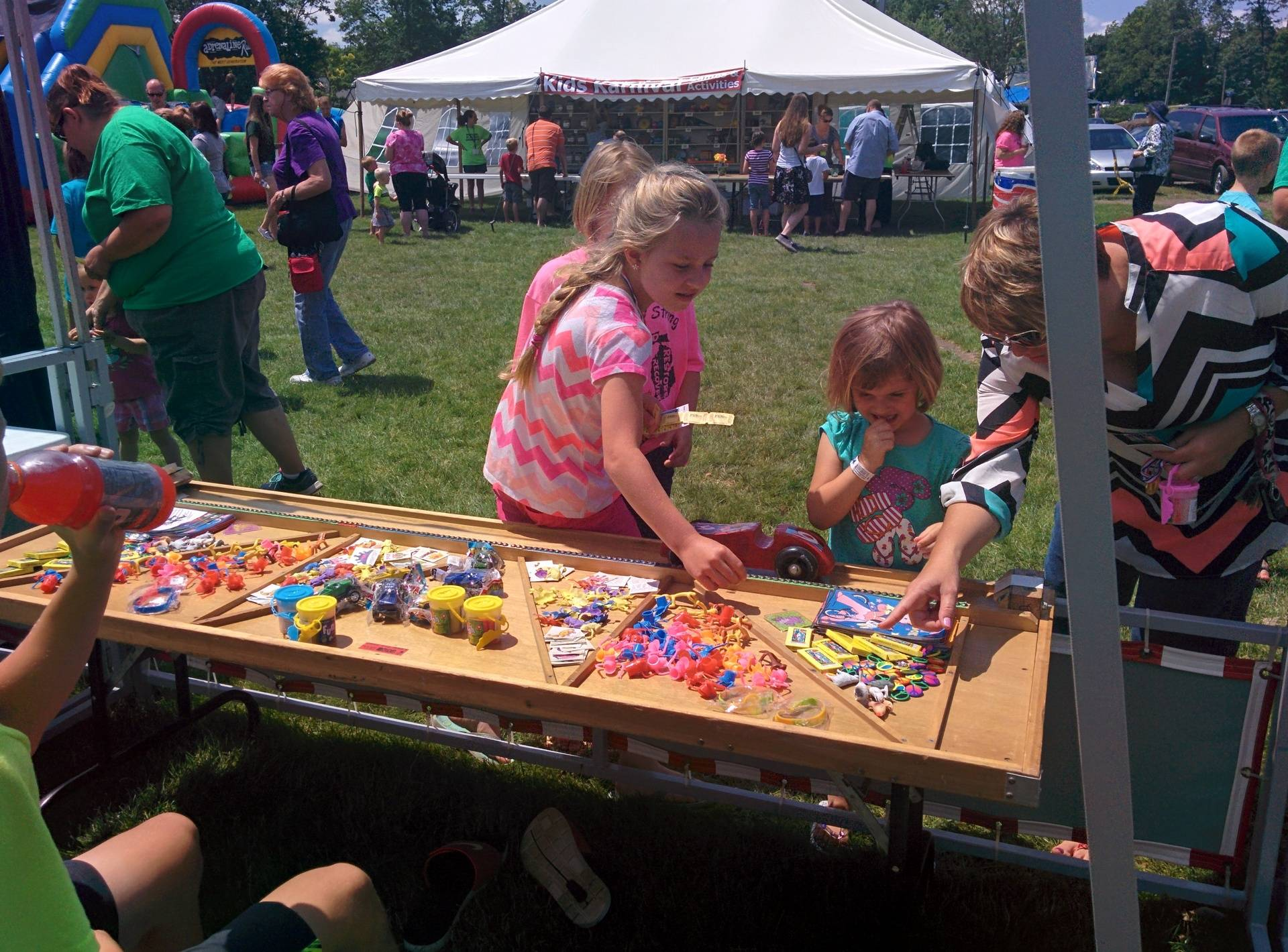Kids games were busy on Sunday.