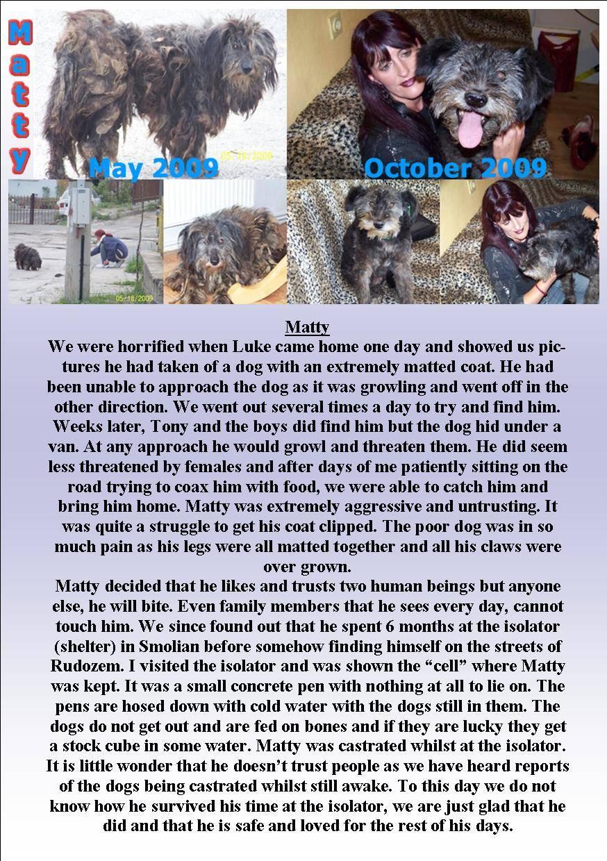 Mattys Story - May 2009