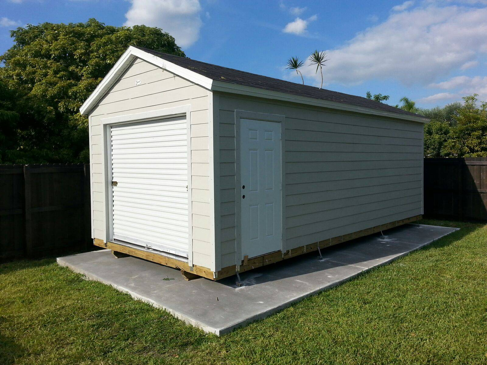 12x26  , roll up ,  eaves