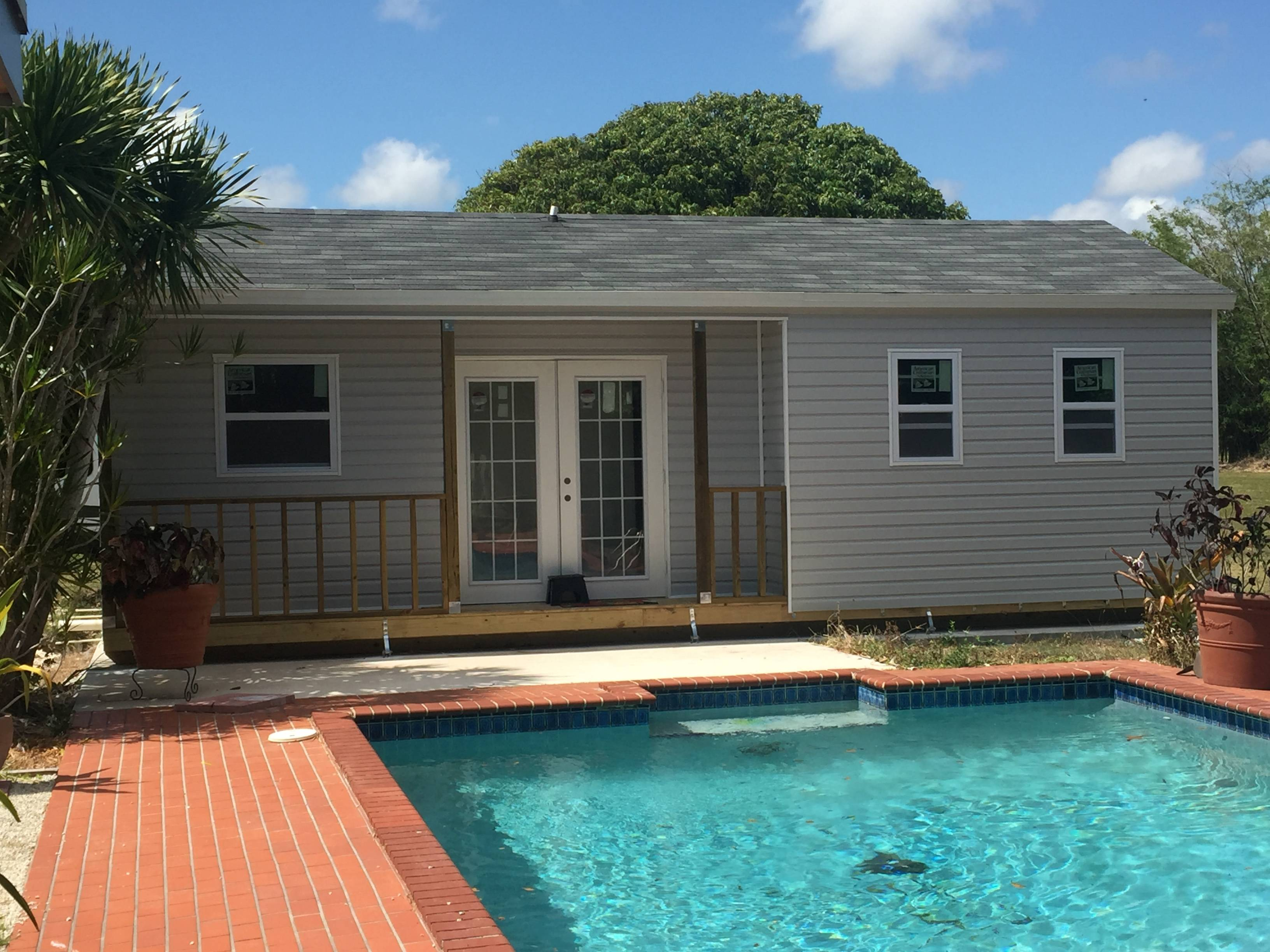 12x26 , pool house , utility building