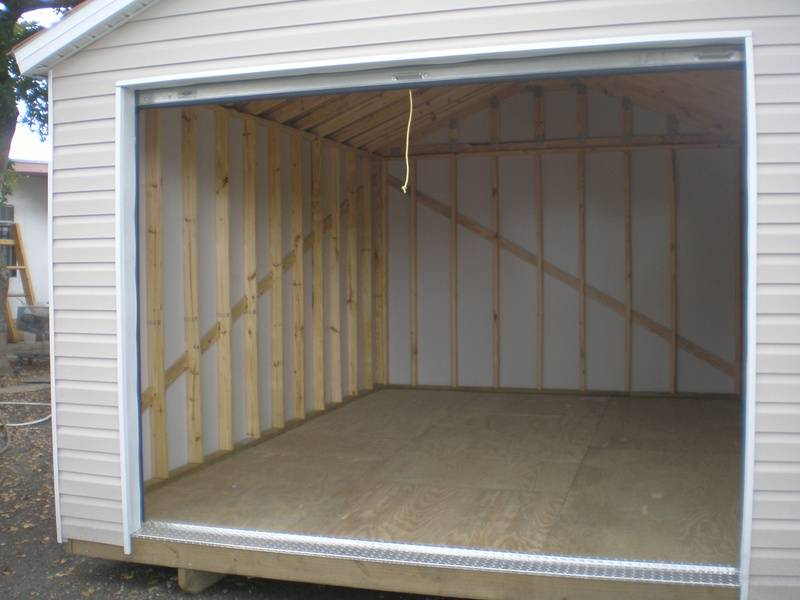 12x16 with roll up door