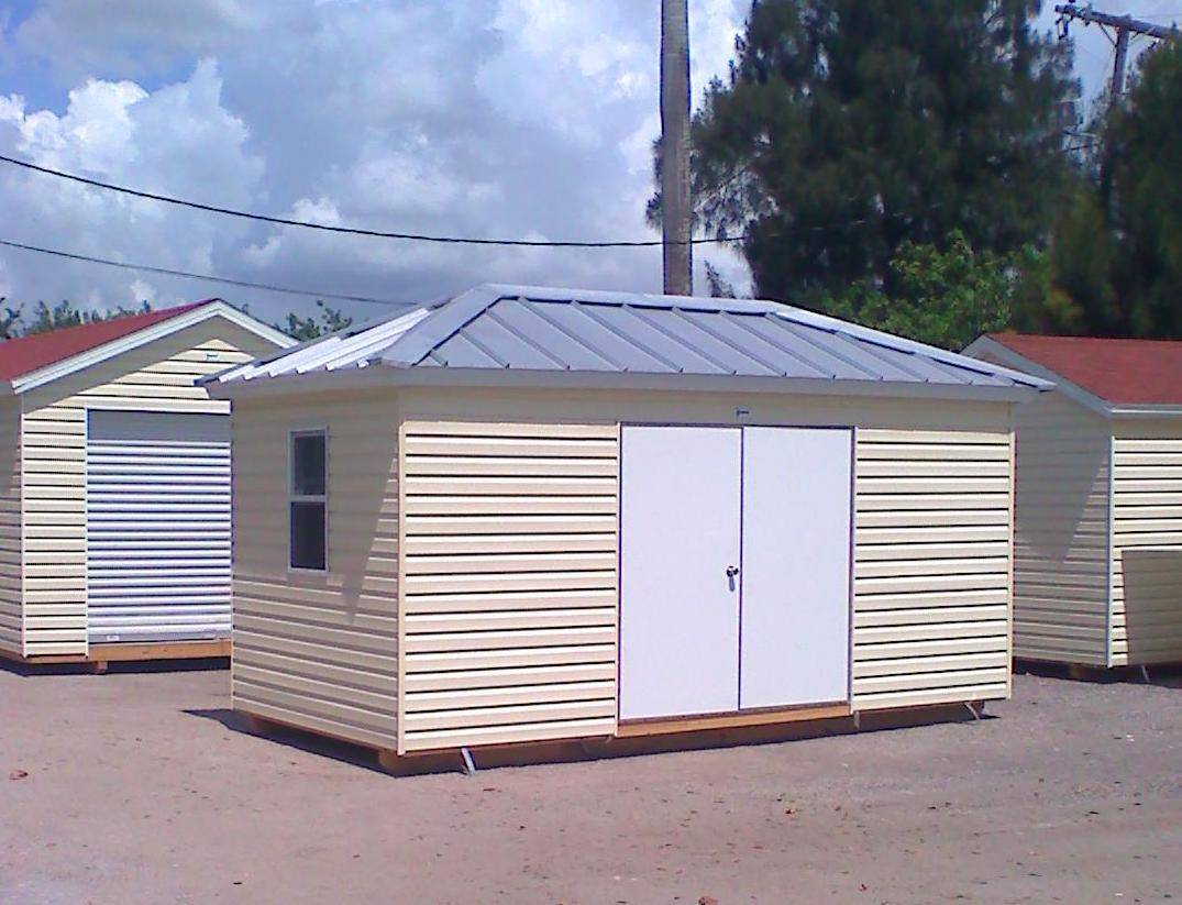 10x16 with double door and hipp roof