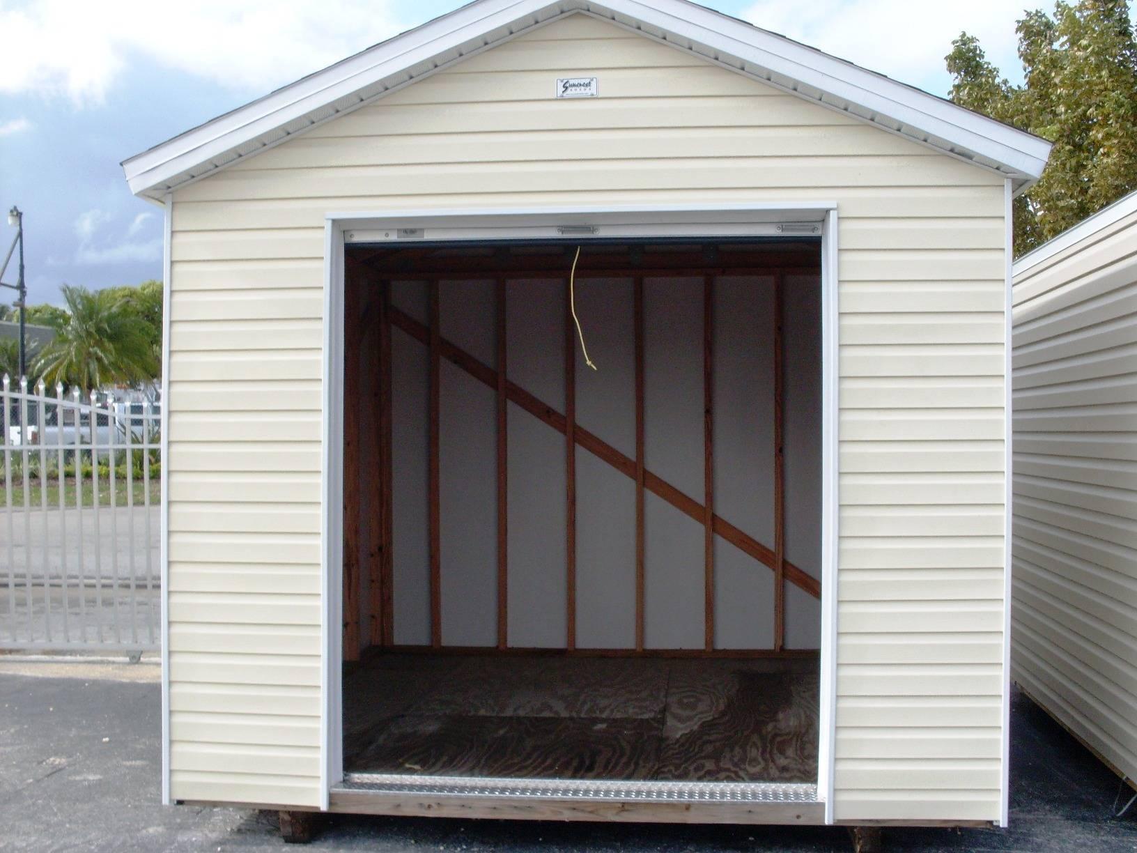10x10 w/6 foot roll up door