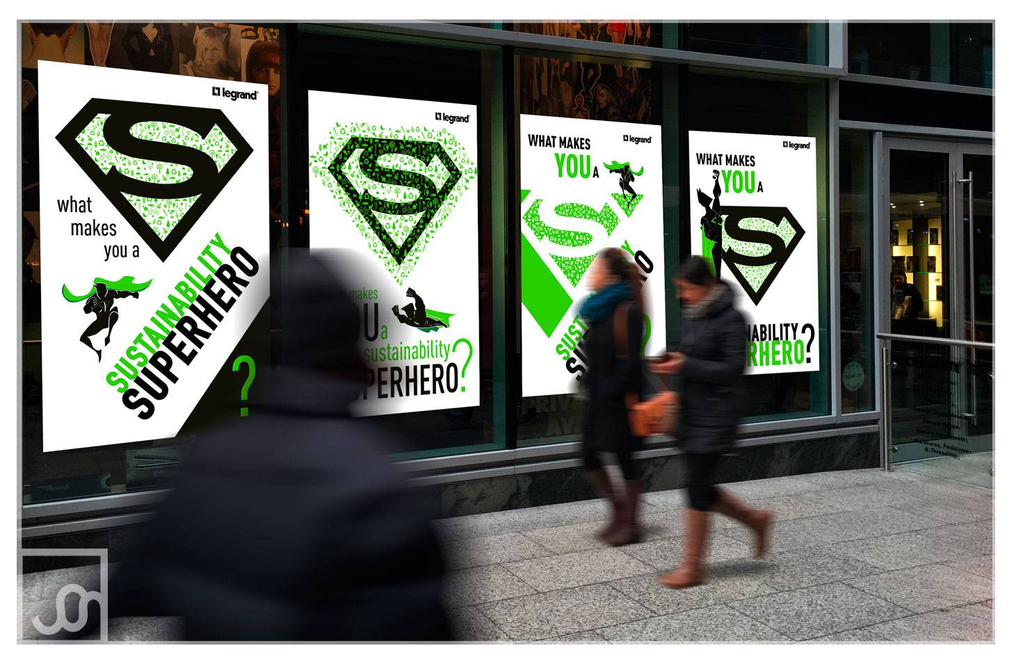 Superhero Sustainability Campaign Posters