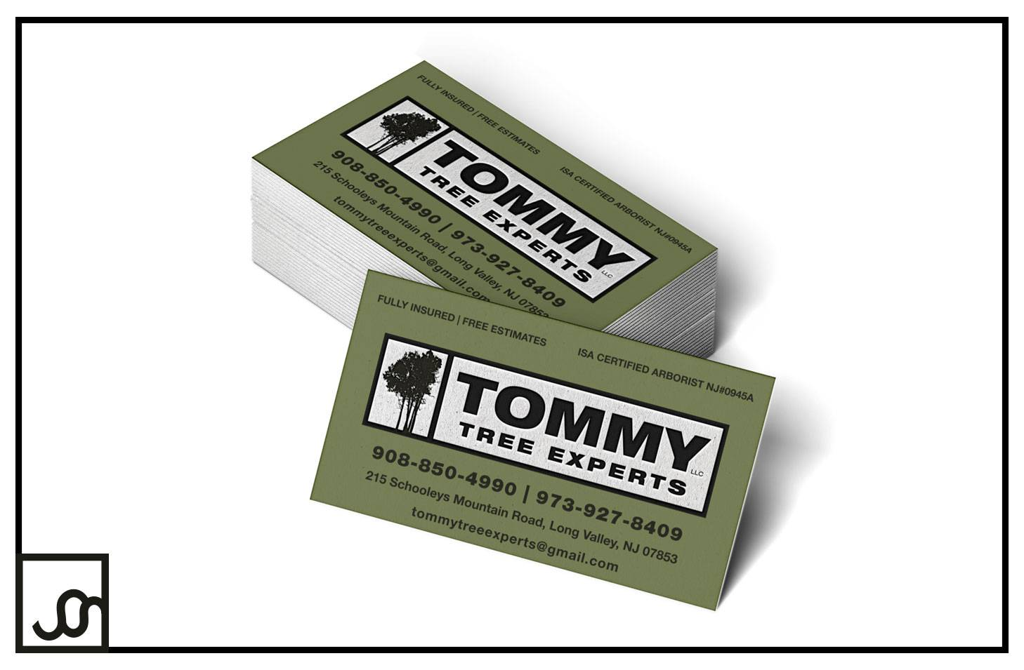 Tommy Tree Experts Business Cards