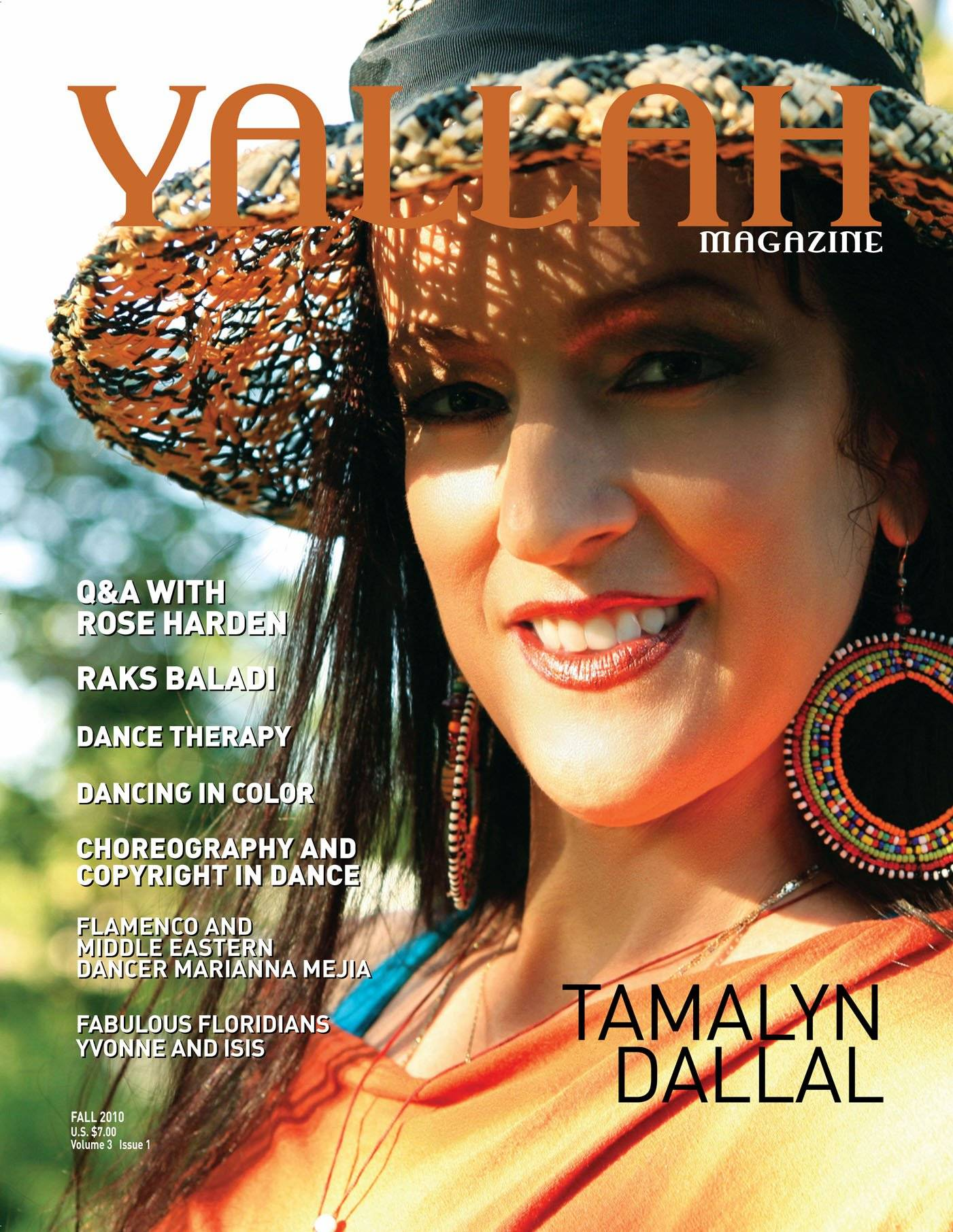 Cover photo for Yallah Magazine. Fall, 2010