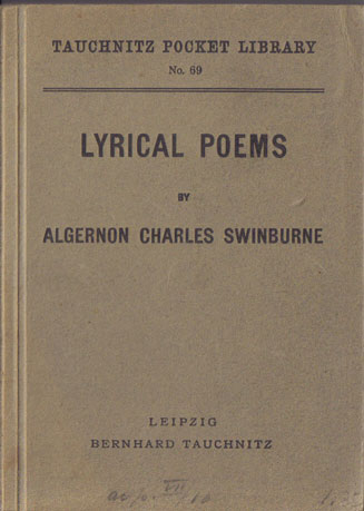 I69  Lyrical Poems by Swinburne