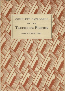 Complete catalogue November 1932