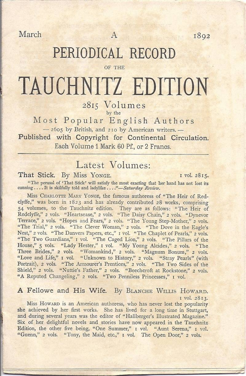 Periodical Record March 1892