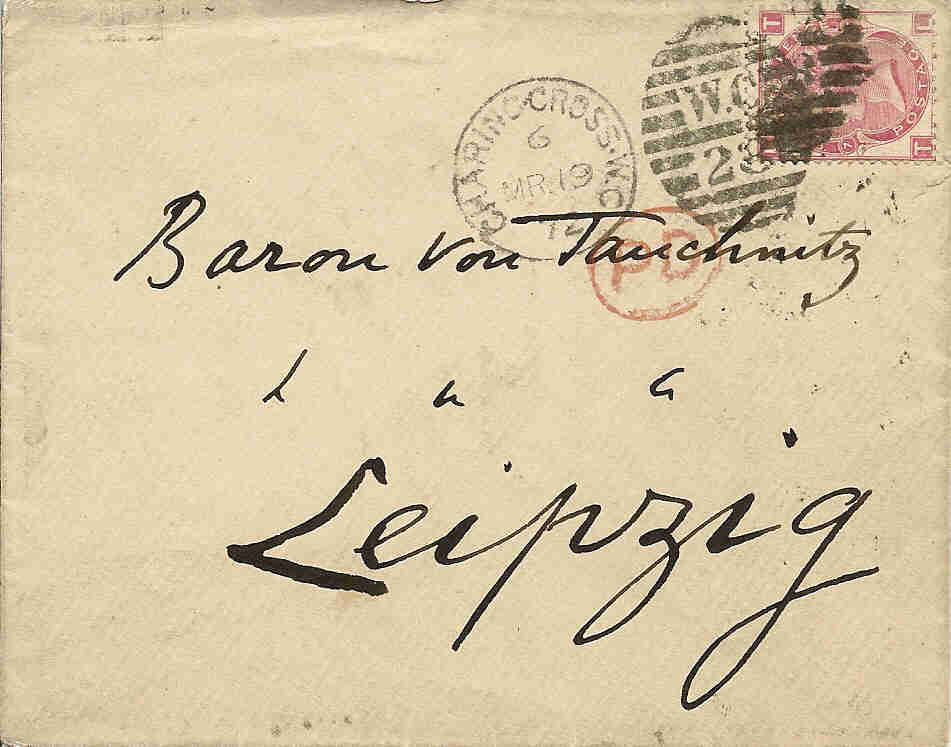 Envelope addressed to Tauchnitz
