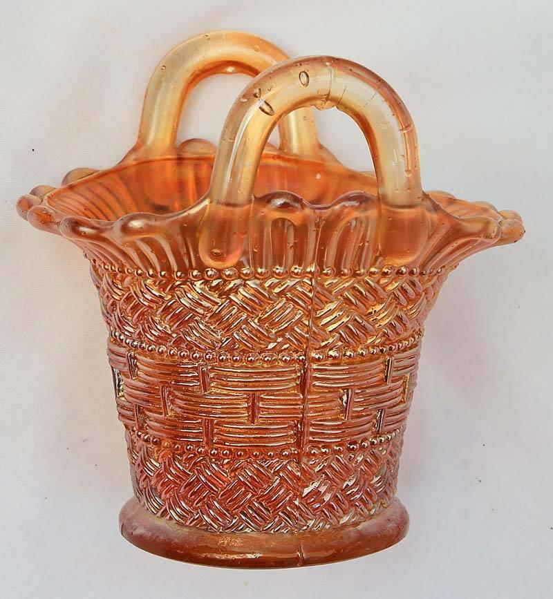 Beaded Basket, marigold