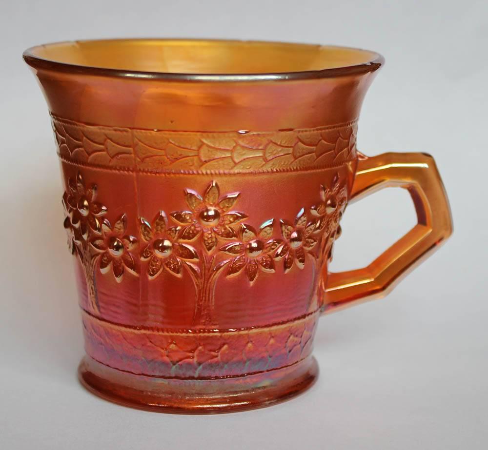 Orange Tree mug, standard size, flared
