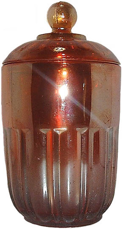 Honeypot or lidded jar -trademarked Sowerby