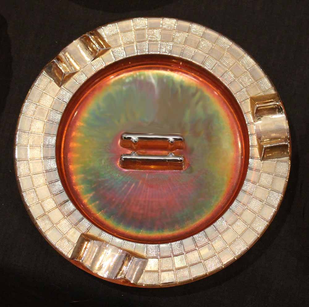 Checkers ashtray marigold