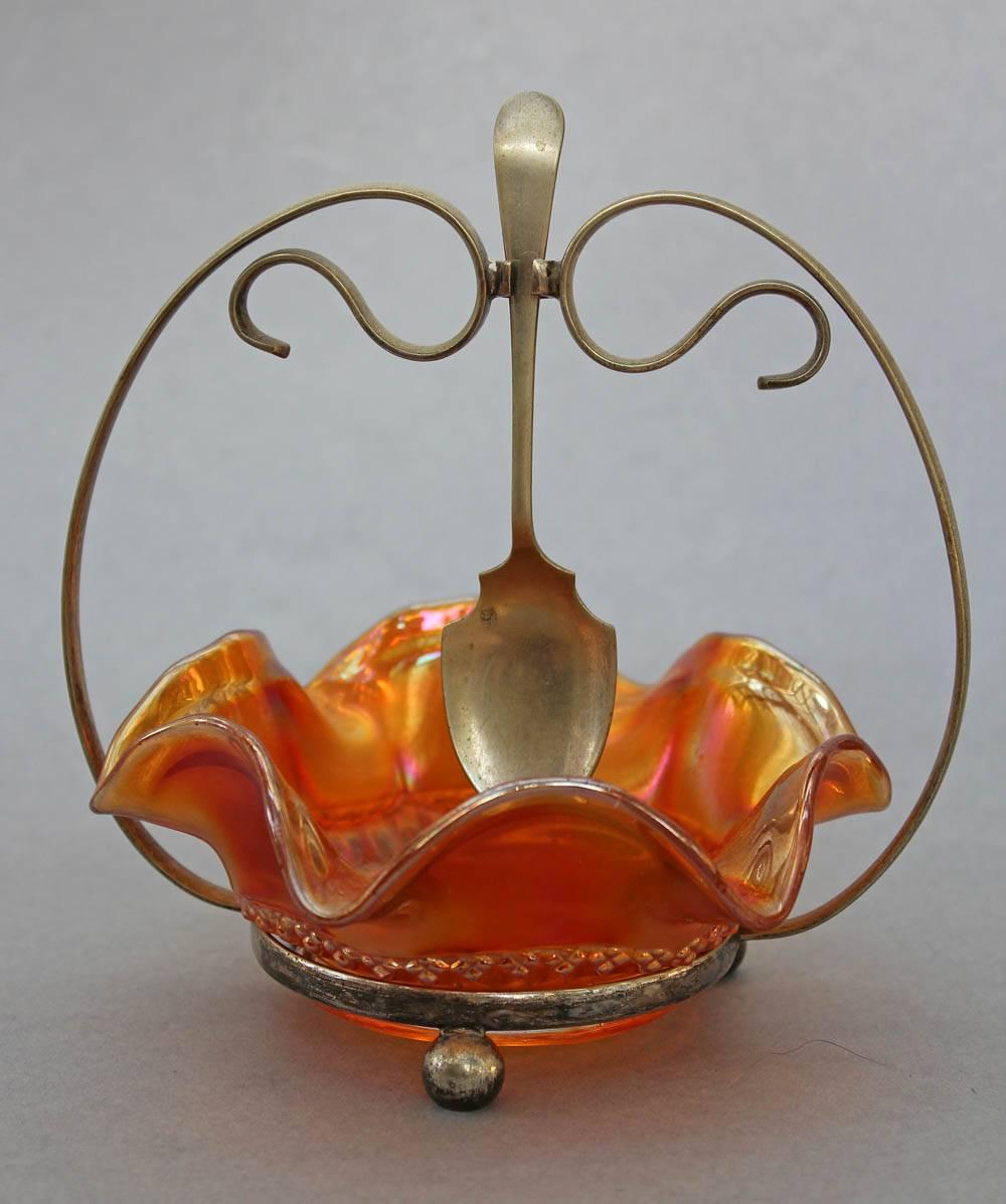 Optic Flute jelly/jam dish, marigold