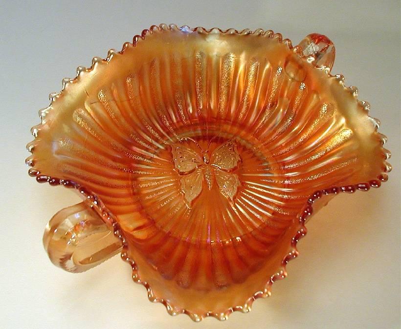 Butterfly bonbon with plain back, marigold