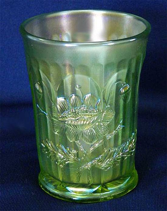 Oriental Poppy tumbler, lime green