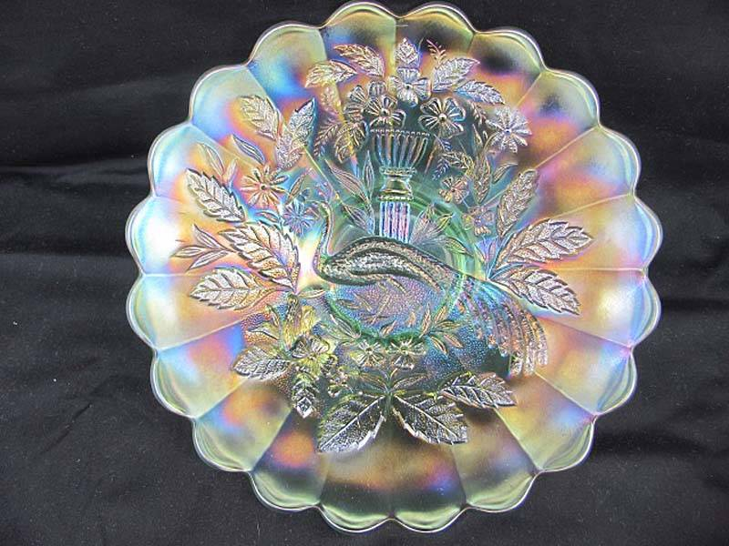 Peacock and Urn large plate, white