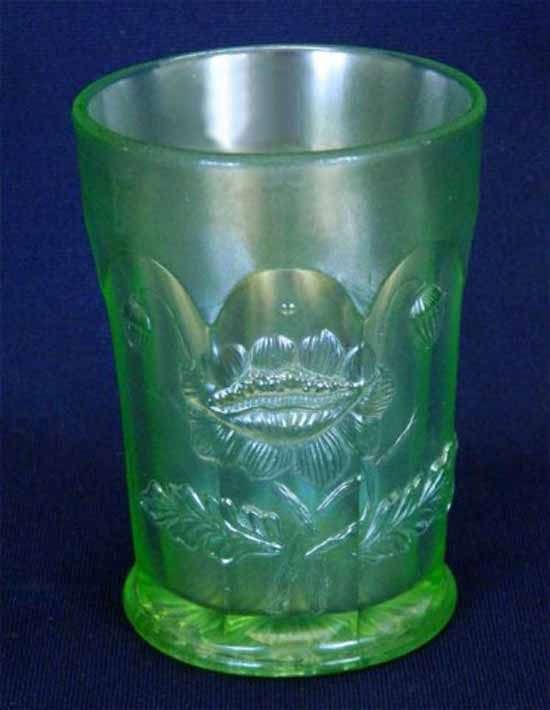 Oriental Poppy tumbler, ice green