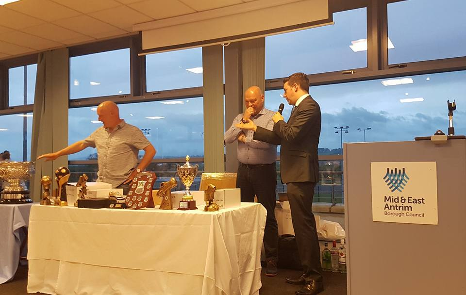 Compering Ballymena United's End of Season dinner