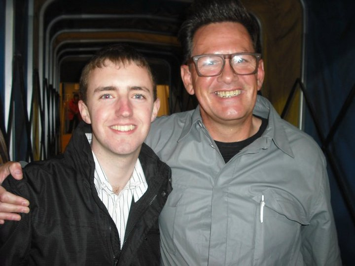 Myself and BBC Radio Ulster's Alan Simpson