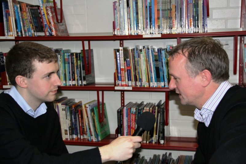 Interviewing NI manager Michael O'Neill
