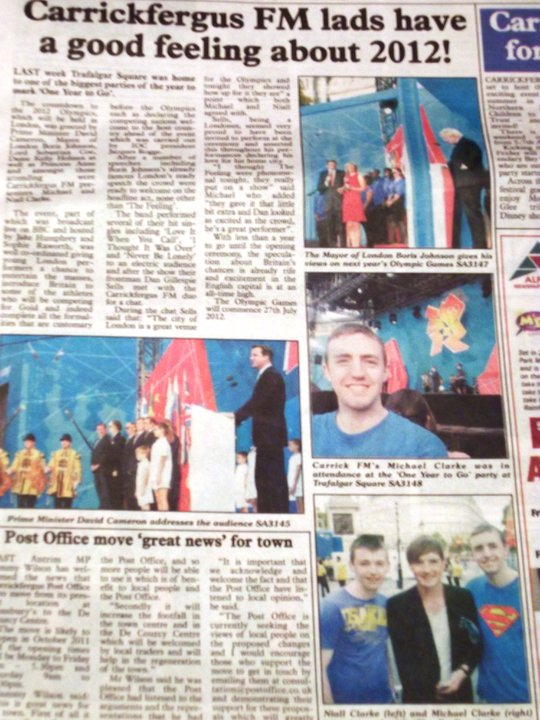 Article in the Carrick Advertiser