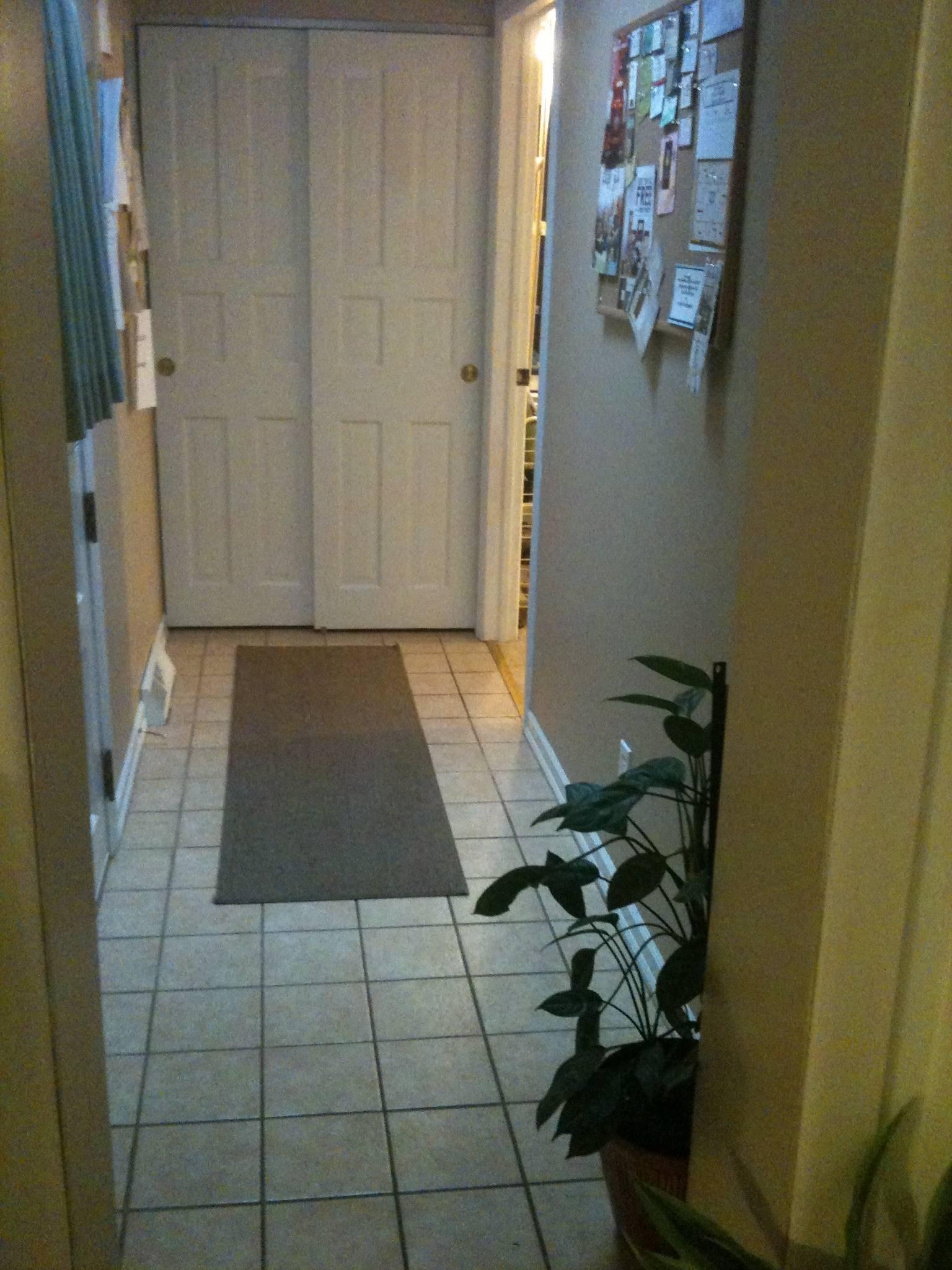 hallway to craft room