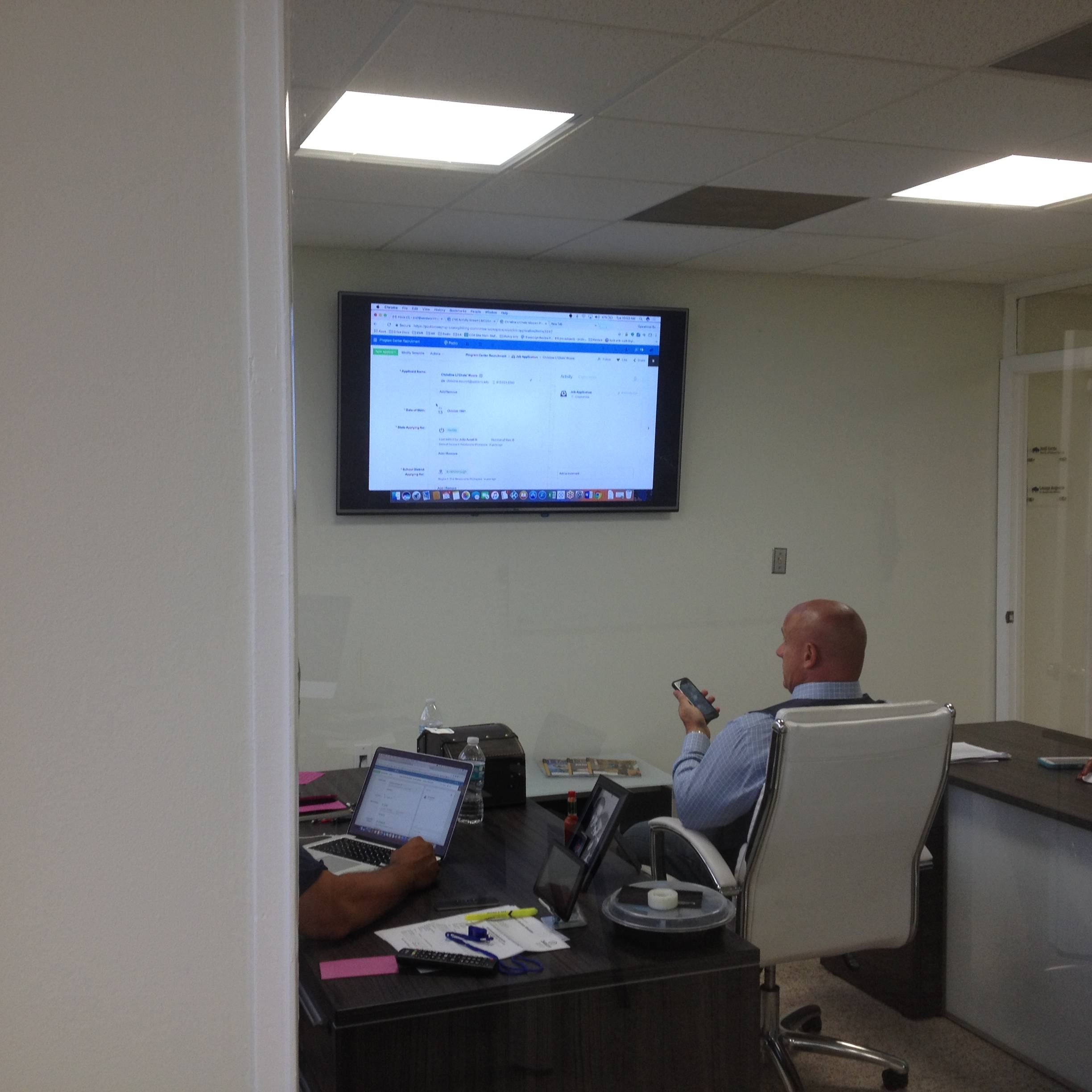 Doral medical office- TV mounting service