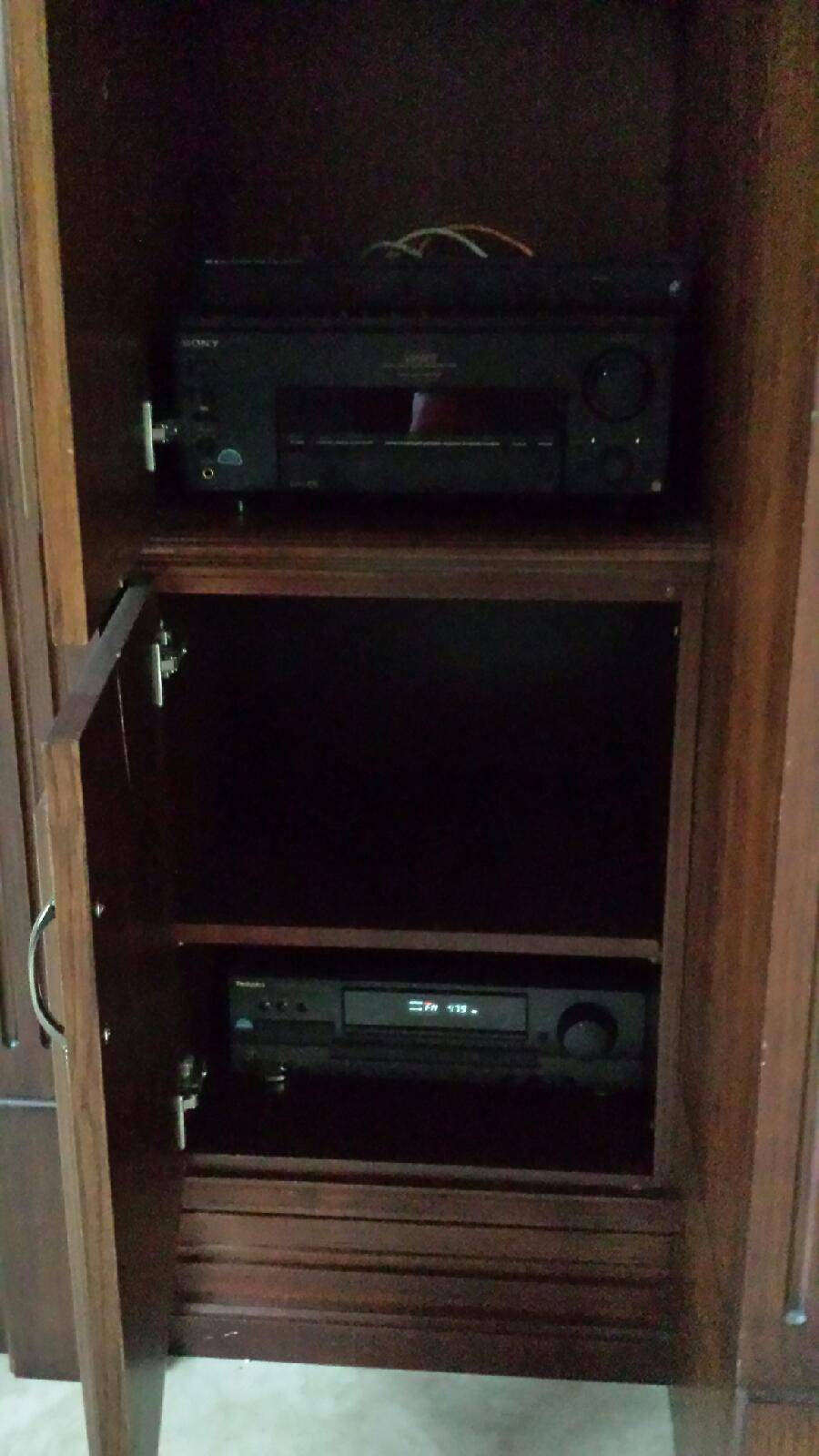 All components inside cabinet