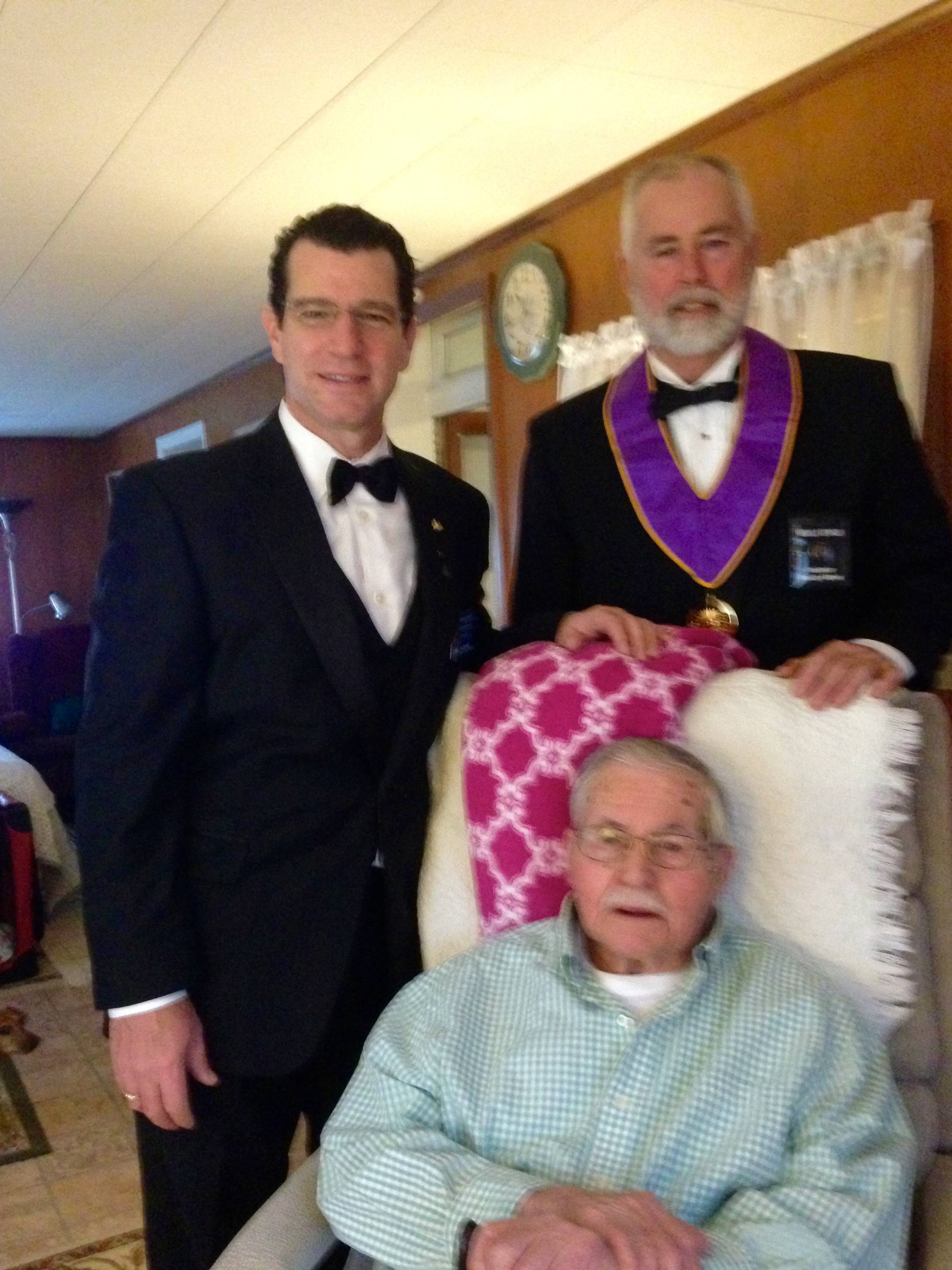 BROTHER WOLFE RECEIVES 70 YEAR AWARD