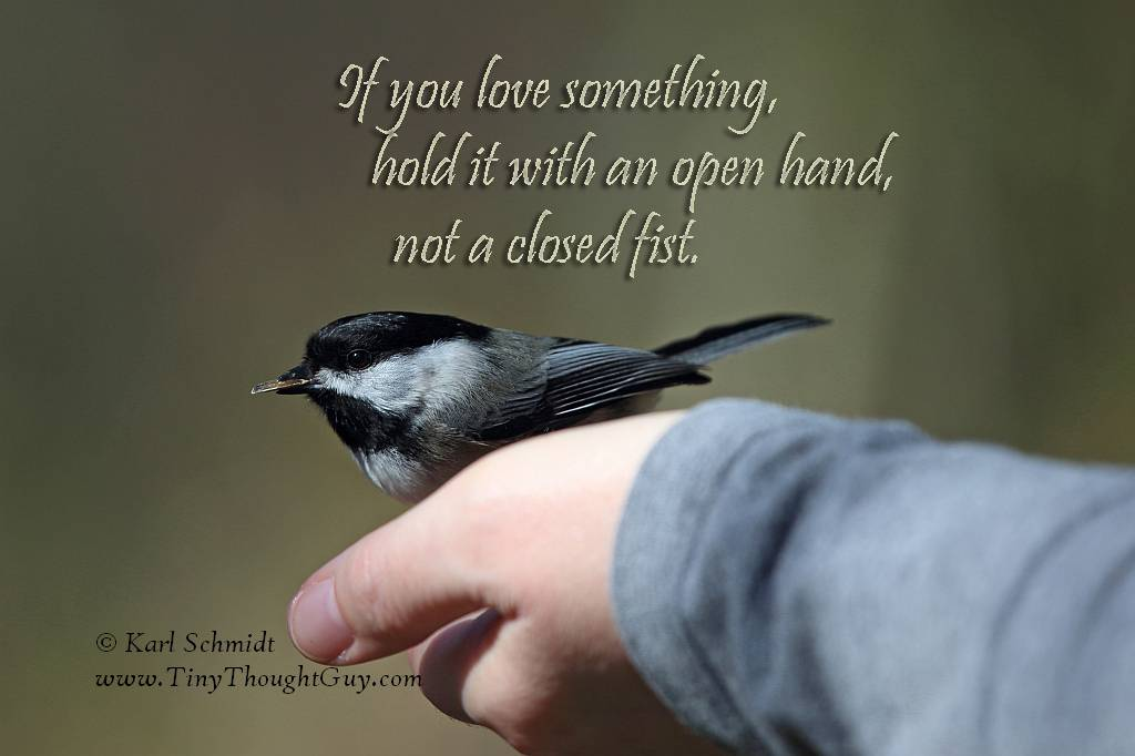 Love with an open hand